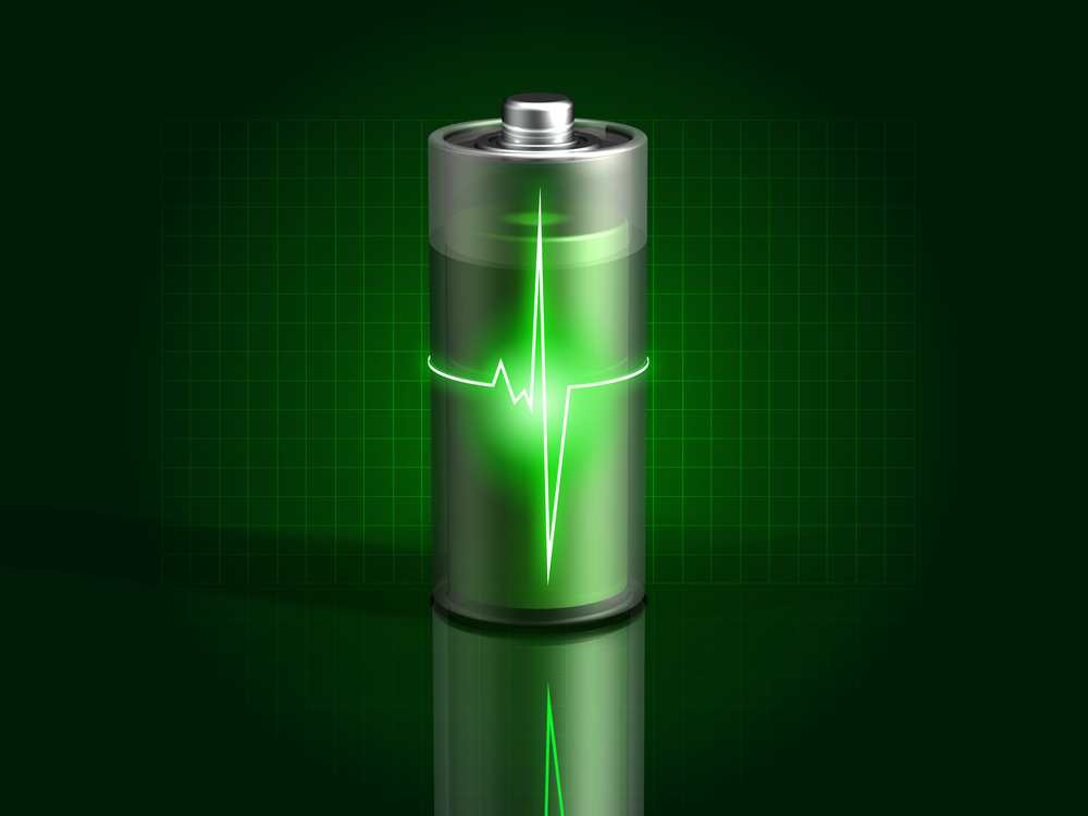 glowing-green-battery-charging