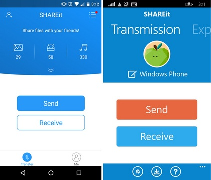SHAREit-Windows-Android-file-transfer