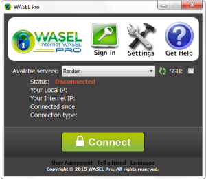 wasel pro dissconnected
