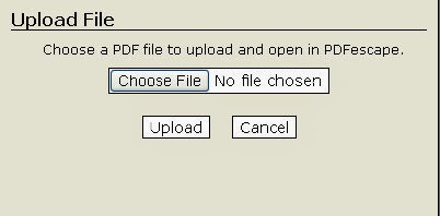 pdf editor escape options