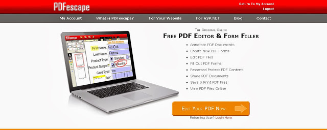 pdf escape web screen