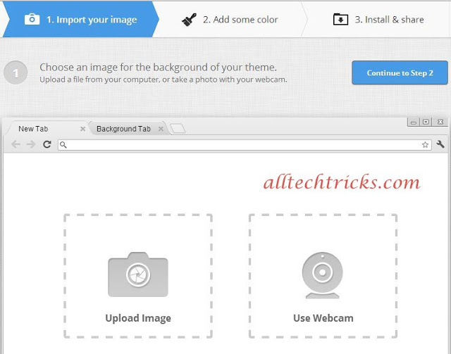 create own theme import image