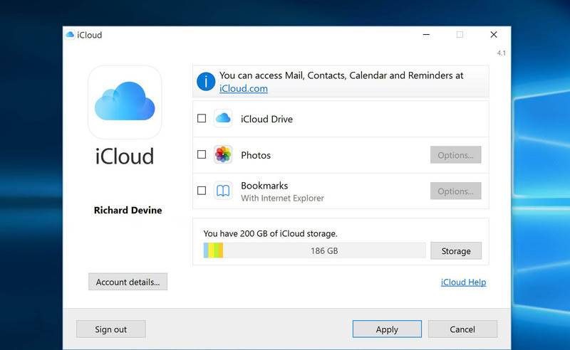 icloud-options-windows